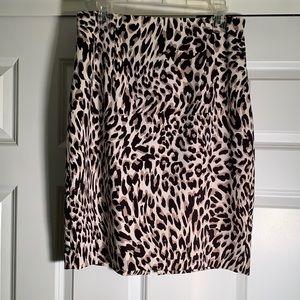 Calvin Klein leopard print skirt